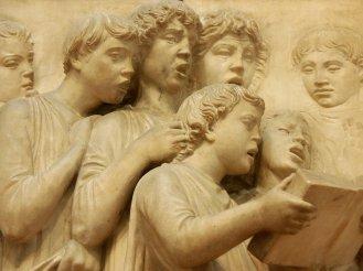 Luca della Robbia, detail from Cantoria
